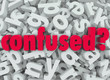 Confused Word Letter Background Disoriented Lost