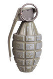 grenade isolated on a white background