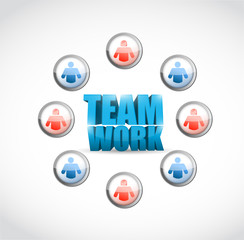 team work. social network illustration design