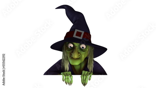 3d halloween witch animation