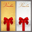 Gift certificate, Voucher, Coupon, Ticket. Bow, boxes