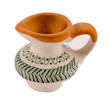 small decor clay pitcher ornaments isolated white