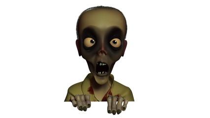 3d halloween zombie