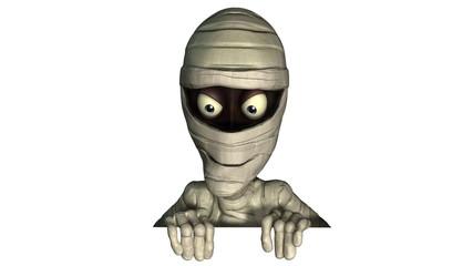 3d halloween mummy