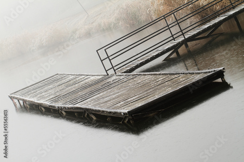 Wooden dock in a lake
