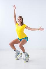 Kangoo jumps athlete
