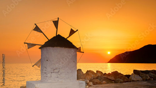 Fototapety, obrazy : Sunset on Amorgos, Cyclades, Greece