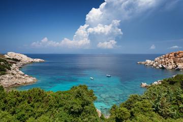 Capo Testa bay in Sardinia. Italy