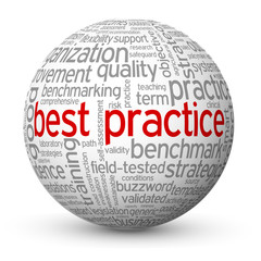 """BEST PRACTICE"" Tag Cloud Globe (business process improvement)"