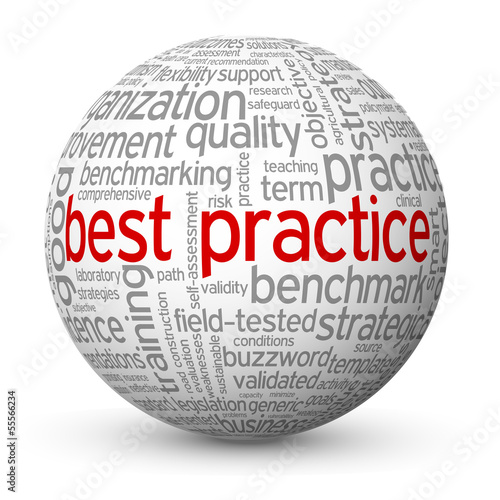 """BEST PRACTICE"" Tag Cloud Globe (business process improvement)"