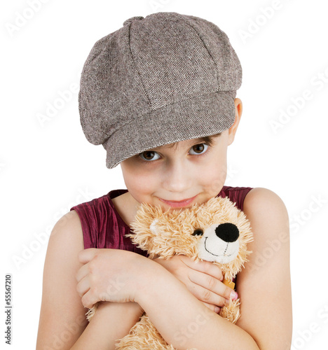 Sweet girl with a teddy bear