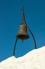Ancient bronze bell in Tsambika monastery