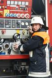 Fireman portrait on duty