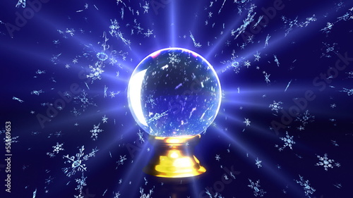 crystal ball future snow