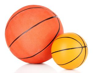 Basket balls, isolated on white