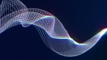 Futuristic wave, digital abstract background, HD 1080p, loop.