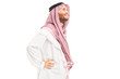 Male arab person standing