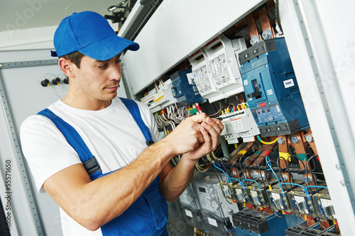 adult electrician engineer worker - 55571650