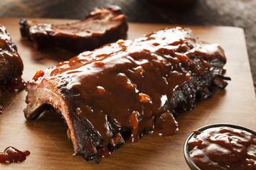 Smoked Barbecue Pork Spare Ribs