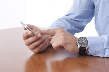 Businessman using the Smart Phone