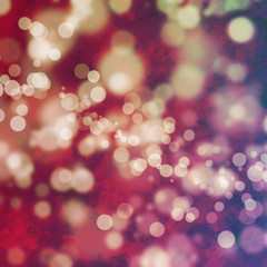 Bokeh on grungy pink background