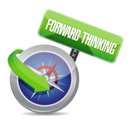 forward thinking compass guide illustration