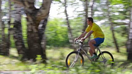 Masculine cyclist