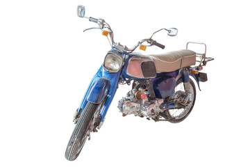 classic motorcycle isolate on white with clipping path