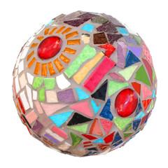 Boule de Noël en mosaïque