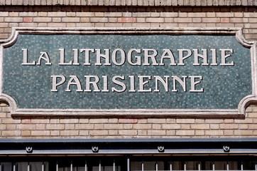 la lithographie parisienne