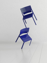 Concept picture of two chairs | Balancing