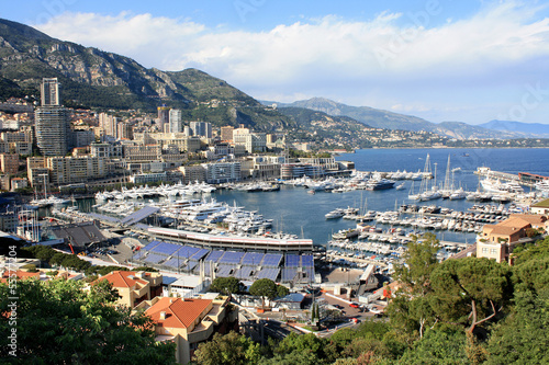 Monaco. Panorama of the city of Monte Carlo.