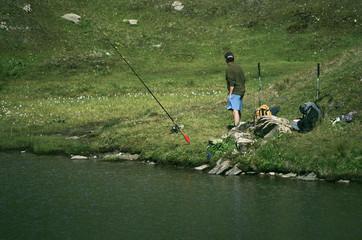 pêche en lac de montagne