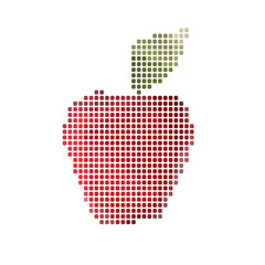 Apple abstract isolated on a white backgrounds