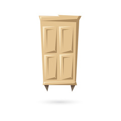 Wardrobe isolated on a white backgrounds. Vector illustration