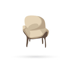 Armchair isolated on a white backgrounds