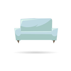 Couch isolated on a white backgrounds