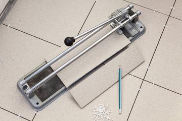 Tile cutter for floor repair