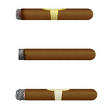 Set of Cuban cigars. Isolate on white background. eps10