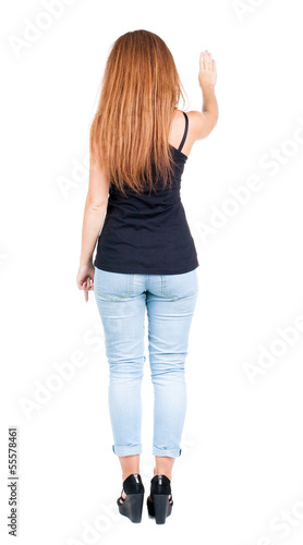 back view of woman.