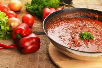 hot chili con