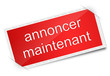 Rouge label annoncer maintemant