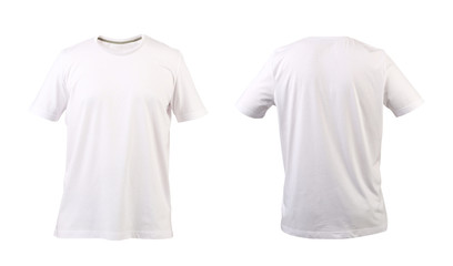 White t-shirt. Front and back.