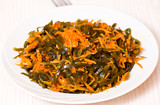 Fresh seaweed salad with carrot