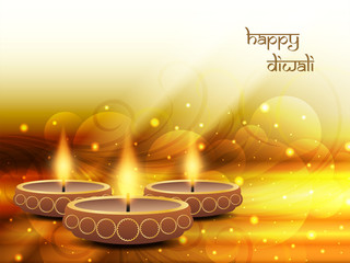 Abstract colorful religious background for Diwali.