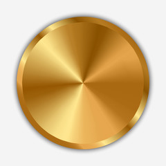 Vector illustration of gold knob