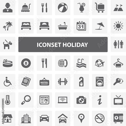 Website Iconset - Holiday 44 Basic Icons