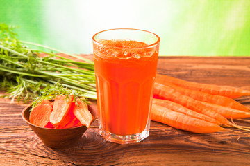 carrot fresh juice drink