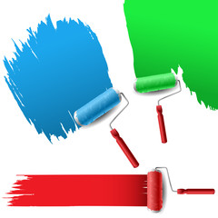 Painting roller set for text background