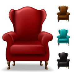 Old armchair set